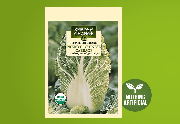 Seeds of Change® Organic Nikko Chinese Cabbage Seeds Front of Pack
